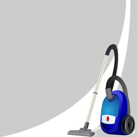 vacuum cleaner: Vacuum cleaner for cleaning the premises of a white clean line  Illustration on an abstract gray background  Illustration