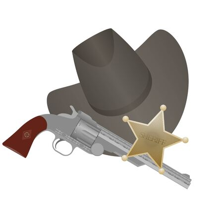 sheriffs: Star of the sheriffs hat and small arms