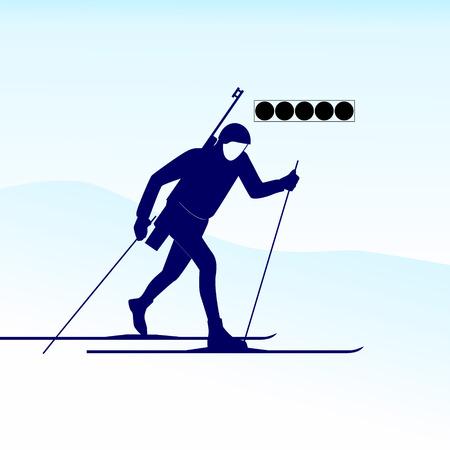 sport invernali: Sport invernali Illustrazione su sfondo bianco Vettoriali