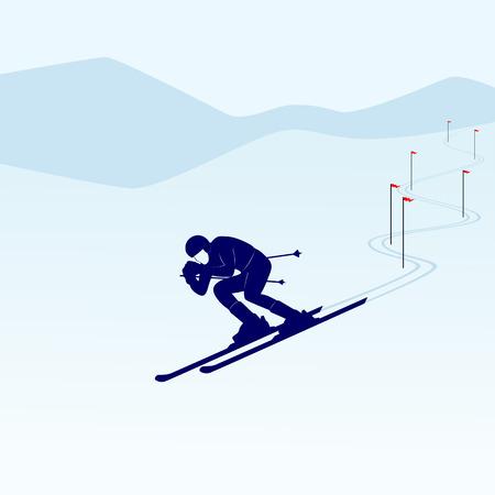 winter sports: Winter sports  Illustration on white background