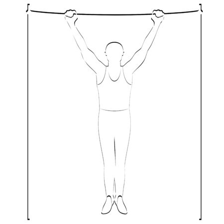 crossbar: Abstract image of the sportsman  Illustration on white background  Illustration