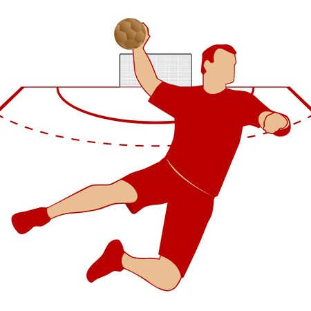 handball: Summer kinds of sports  Illustration on a sports theme