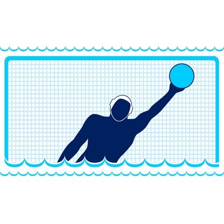 water polo: Clases de verano de la ilustración de los deportes en un tema deportivo