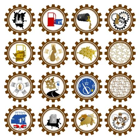 Icon set oil industry. Illustration on white background. Illustration