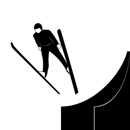 winter sports: Winter sports competitions  Illustration on the theme of winter sports