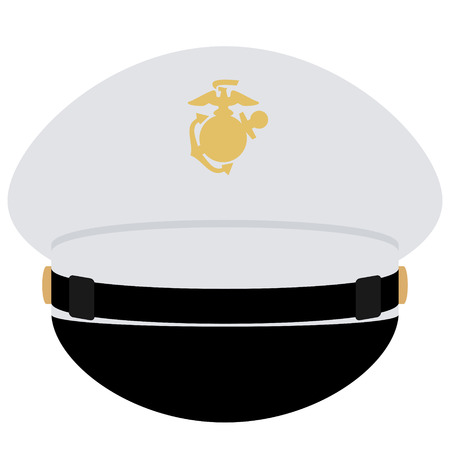 headgear: Headgear officer of the US Navy. The illustration on a white background.