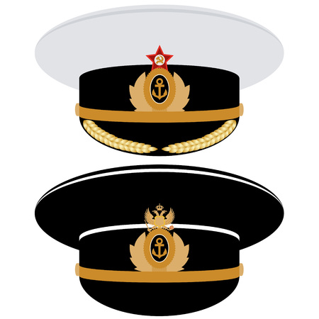 headgear: Headgear officer of the Navy of the USSR and Russia. The illustration on a white background.