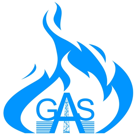 gas industry: Abstract icon gas industry. Illustration on white background.