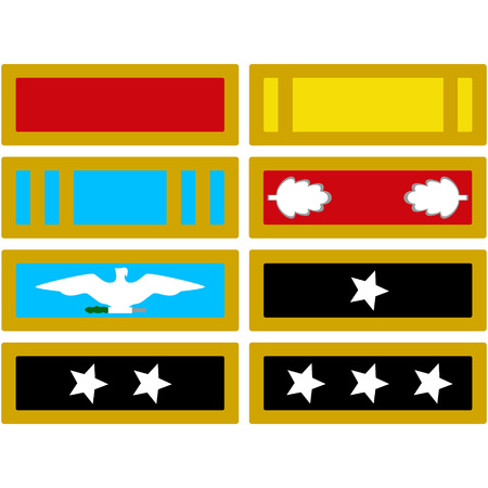 civil war: The insignia of the US Army during the American Civil War. The illustration on a white background.