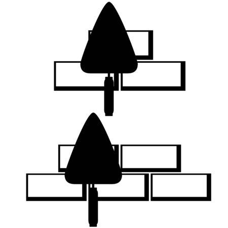 Trowel for masonry bricks. The illustration on a white background.