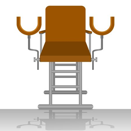 gynecological: Medical equipment. Gynecological chair. The illustration on a white background.