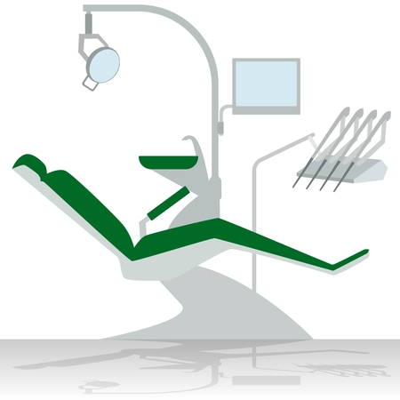 medical equipment: Medical equipment. Dentist chair. The illustration on a white background.