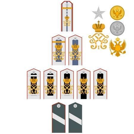 insignia: Insignia de los estudiantes de la Academia Médica Militar Imperial. La ilustración sobre un fondo blanco. Vectores