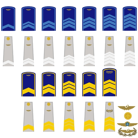 Insignia in the Russian civil aviation. The illustration on a white background. Illustration