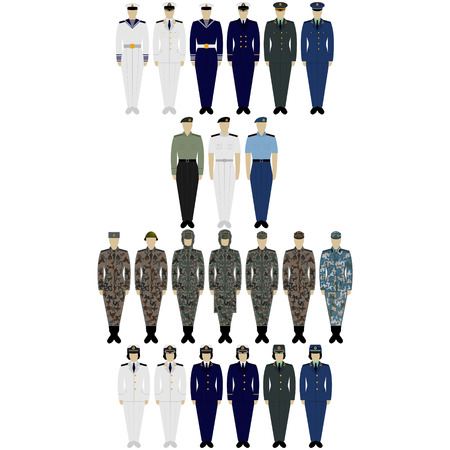 epaulettes: The illustration on a white background. Insignia Army of China