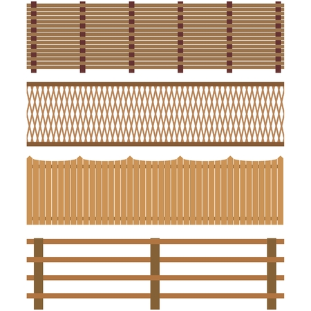 railings: The construction, which serves for the protection and designation of borders and territory. The illustration on a white background.