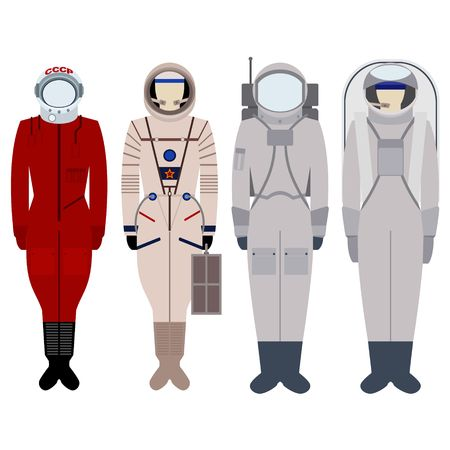 spacesuit: Spacesuit for spacewalk. Illustration on white background