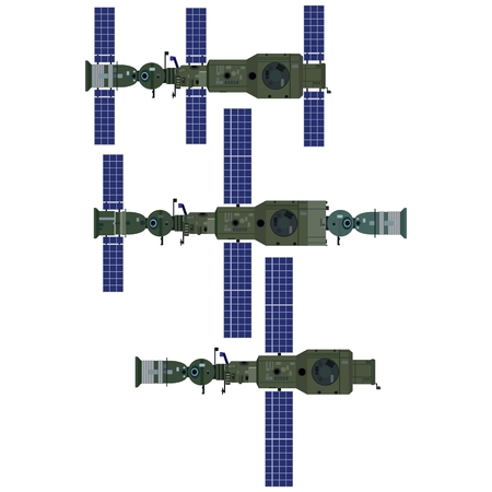 space station: Space orbital station of the USSR. The illustration on a white background.