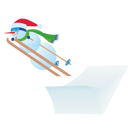 Abstract image of athletes of winter sports. The illustration on a white background. Illustration