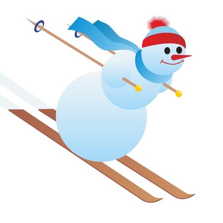 Abstraktes Bild der Athleten des Wintersports. Die Abbildung auf einem weißen Hintergrund.