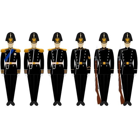 corps: Fancy Dress Uniform Marine Corps. The illustration on a white background. Illustration