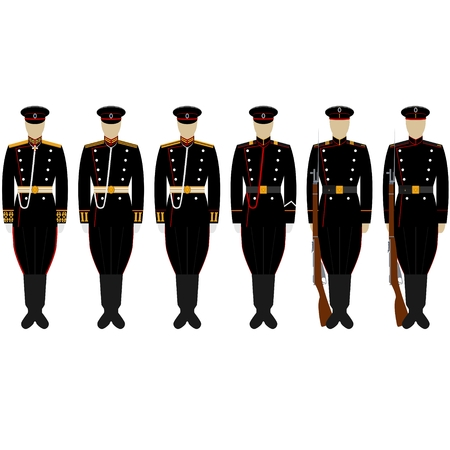 corps: The service uniform of the Corps coastal artillery. The illustration on a white background.