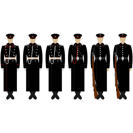 The service uniform of the Marine Corps of Engineers. The illustration on a white background.