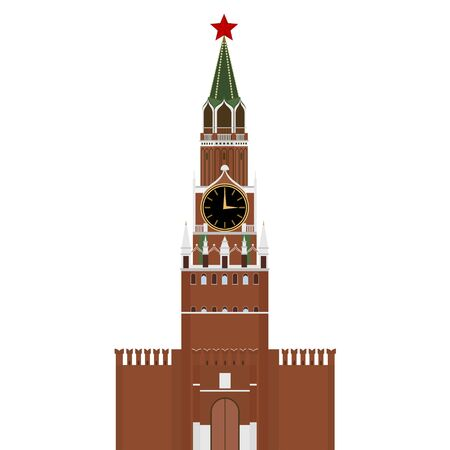 Kremlin in Moscow with star. The illustration on a white background. Illustration