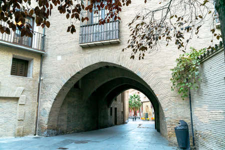 Casa del Deán is a building made up of two blocks and one of them annexed to the Cathedral or Seo de Zaragoza joined by a corridor over a pointed arch in Calle del Deán in Zaragoza and built in the XIII century. Archivio Fotografico