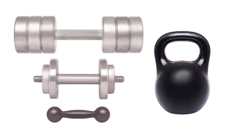 Set Dumbbell isolated on a white background photo