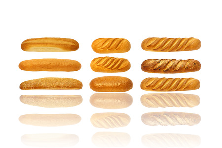 Breads, baking on a white background photo