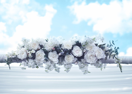 canopy: Wedding floral decorations