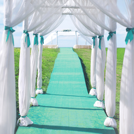wedding ceremony arch from the tent and the path bridal decorations stock photo picture and royalty free image image 87805843 - Green Canopy Decoration