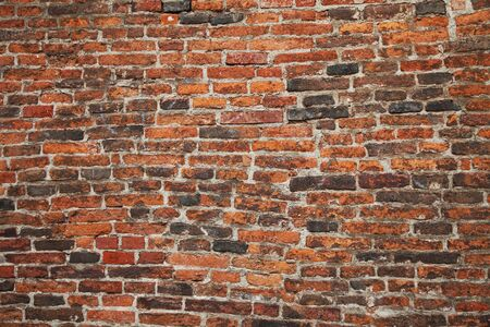Close-up of brick old textured wall background