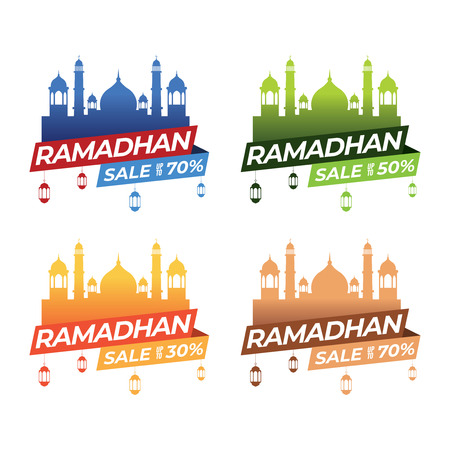 Sets of ramadan banner template for various business purposes