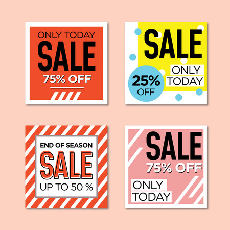 Template sets of web banner for shop
