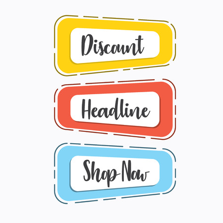 Sets of template for special sale banner of your business/shop