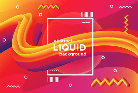 Colorfull abstract liquid banner background Ilustração