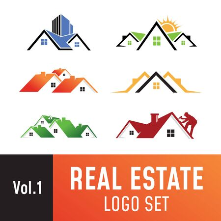 Set of real estate template, suitable for real estate, property, roofing, and construction related business.