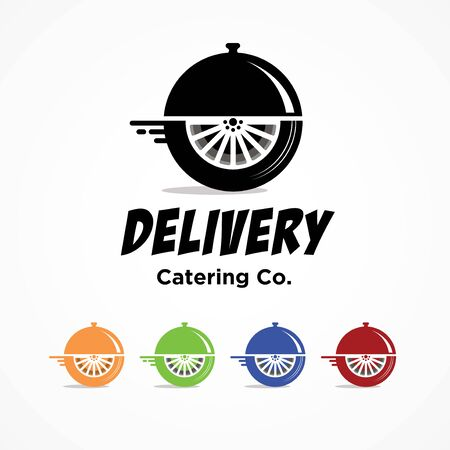 Logo template for food delivery or courier catering related business Stock Illustratie