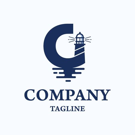 Logo template for nautical education related business 矢量图像