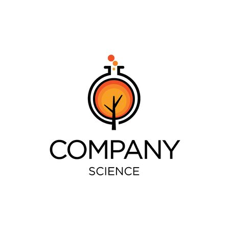 Logo template for science or eco related business 矢量图像