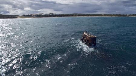 shipwreck: Alkimos Shipwreck Stock Photo