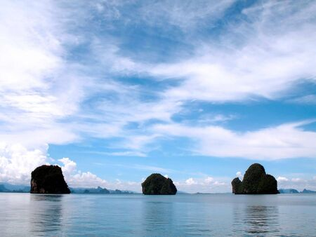 Beautiful landscape on the nice coastline photo