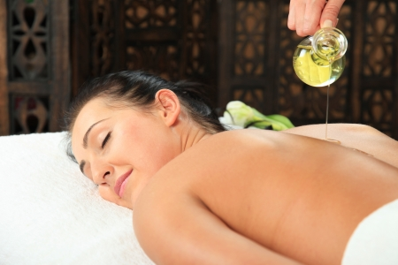 Young woman receiving massage - SPA photo