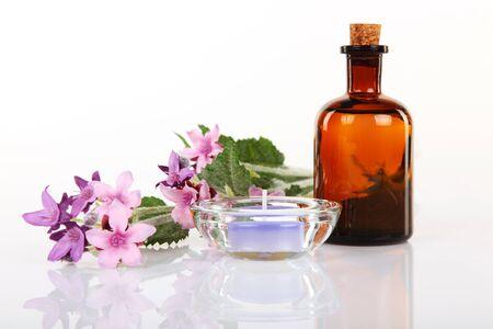 body oil: Massage Therapist - Aromatherapy and Massage Oil Stock Photo
