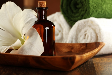 Massage Therapist - Aromatherapy and Massage Oil Stock Photo
