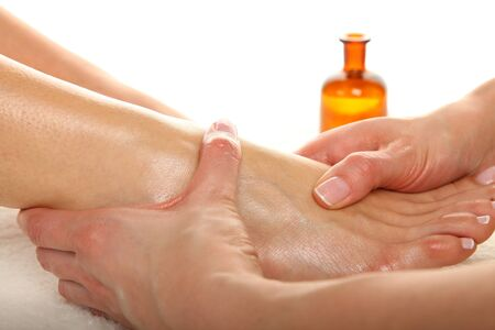 body oil: Beauty treatment photo - Feet Massage