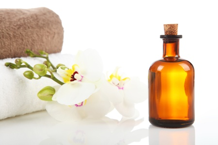 Massage Therapist - Aromatherapy and Massage Oil Standard-Bild