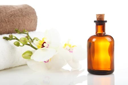Massothérapeute - Huile Aromathérapie et massage Banque d'images